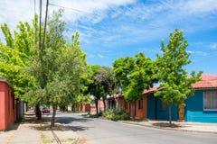 街道在Talca 图库摄影