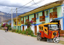 街道在Urubamba,秘鲁 库存照片