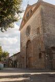 街道在Valldemossa村庄在马略卡 免版税库存照片