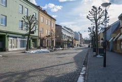 街道在Vanersborg市在冬天 免版税图库摄影