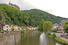 街道在Vianden,卢森堡 免版税库存图片