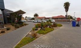 街道在Walvis贝城,纳米比亚 免版税库存照片