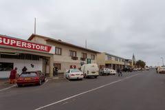 街道在Walvis贝城,纳米比亚 库存照片