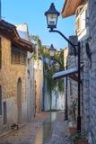 街道在Zefat (采法特)市,北部以色列 库存图片