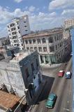 街道场面哈瓦那古巴 免版税库存图片