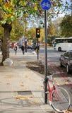 街道场面在中央伦敦 免版税图库摄影