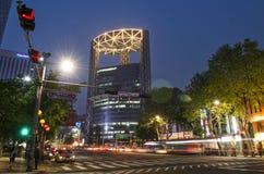 街道场面在中央汉城南韩 免版税图库摄影