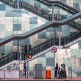 街道场面在九龙,香港 库存图片