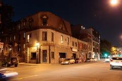 街道场面在云香的圣徒丹尼斯蒙特利尔 库存图片