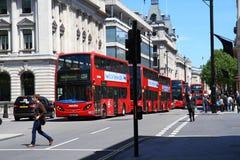 街道场面在伦敦市 免版税库存图片