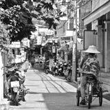 街道场面在华欣 免版税图库摄影