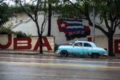 街道场面在哈瓦那,古巴 库存照片