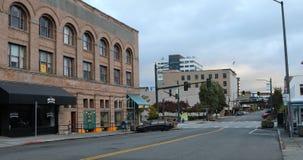 街道场面在埃弗里特,华盛顿4K 影视素材