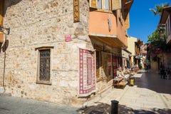 街道场面在安塔利亚,土耳其 库存照片