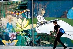 街道场面在布宜诺斯艾利斯 免版税库存图片