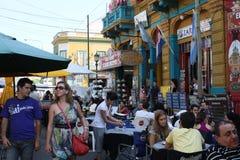 街道场面在布宜诺斯艾利斯 免版税图库摄影