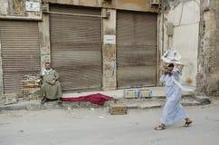 街道场面在开罗老城镇埃及 库存图片