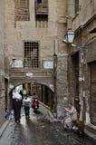 街道场面在开罗老镇埃及 库存图片