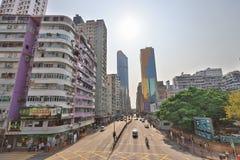 街道场面在旺角香港 免版税库存照片