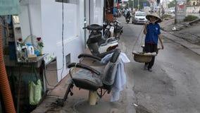 街道场面在河内越南2015年 库存照片