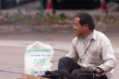 街道场面在珠海,中国 免版税库存照片