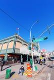 街道场面在科尼岛,布鲁克林, NYC 库存照片