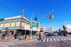 街道场面在科尼岛,布鲁克林, NYC 库存图片