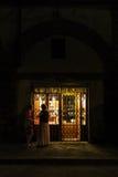 街道场面在老镇佛罗伦萨 库存照片