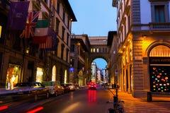 街道场面在老镇佛罗伦萨 库存图片