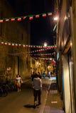 街道场面在老镇佛罗伦萨 图库摄影