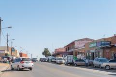 街道场面在西部的Barkly,镇在北开普省 免版税图库摄影