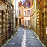 街道场面在里尔,法国 库存图片