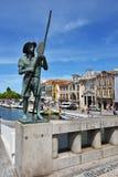 街道场面在阿威罗,葡萄牙 库存照片