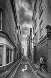 街道场面在巴恩英国 图库摄影