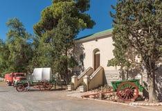 街道场面在Matjiesfontein历史的维多利亚女王时代的村庄  库存图片