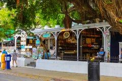 街道场面基韦斯特岛佛罗里达美国 库存图片