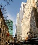 街道场面雍容大厦, NYC公立图书馆,纽约 免版税图库摄影