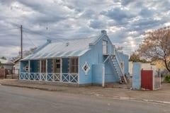 街道场面,与历史的房子,在Carnavon 图库摄影