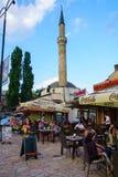 街道场面,萨拉热窝 库存图片