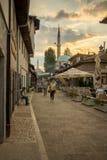 街道场面,萨拉热窝 免版税库存图片