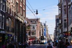 街道场面,阿姆斯特丹 库存照片