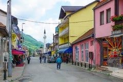 街道场面, Gusinje 库存照片