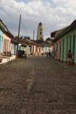 街道场面-特立尼达,古巴 免版税图库摄影