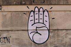 街道墙壁艺术  皇族释放例证
