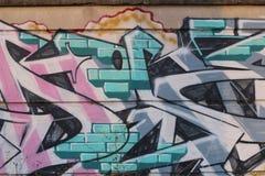 街道墙壁艺术  库存照片