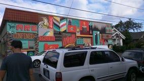 街道壁画在波特兰 图库摄影