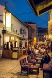 街道夏天生活在萨拉热窝 免版税图库摄影