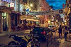 街道夏天生活在萨拉热窝 库存图片