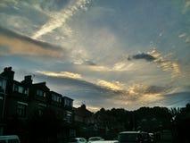 街道天空 库存图片