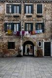 街道威尼斯 免版税库存图片
